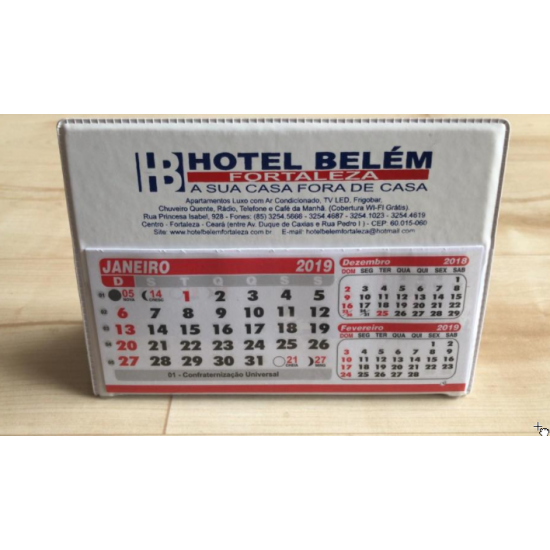 100 Calendário De Mesa Pvc Pequeno Personalizado Brindes NR4