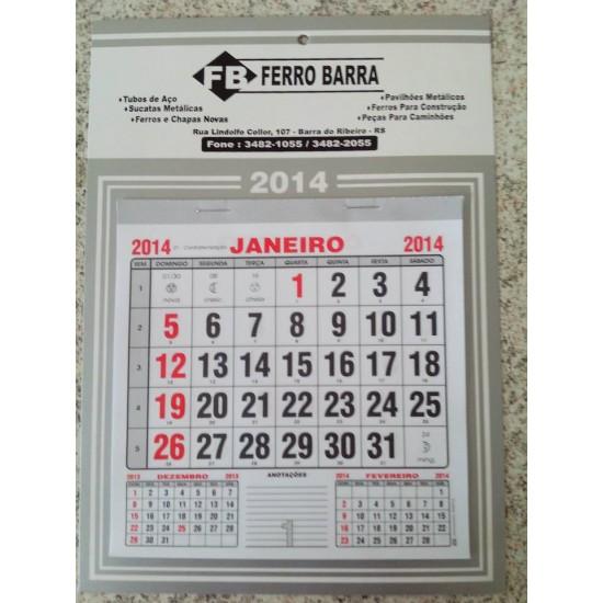 100 Folhinhas Calendários Parede Comercial 2021 Personalizado F7