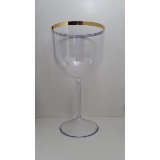 50 Taças Gin C/borda Acrílico Personalizado R1304b