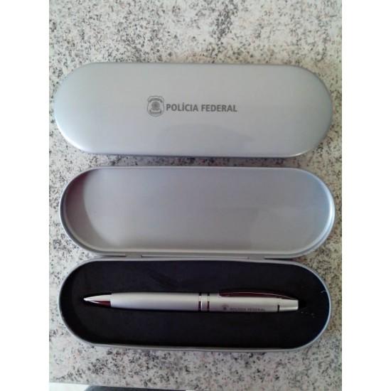 10 Embalagem Estojo Metal P/caneta Personalizado L3260