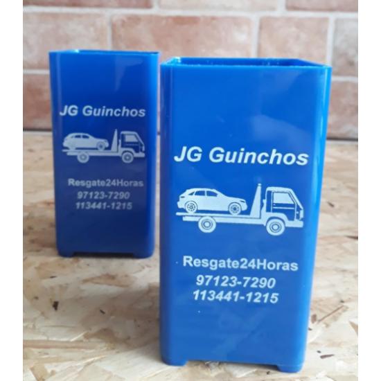 100 Porta Lápis Caneta Quadrado Personalizado Mesa R1200