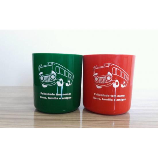 50 Caneca Plastica Café 425 Ml Personalizada Brindes R1233